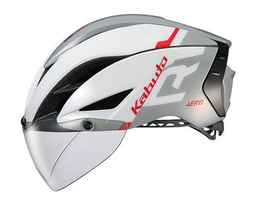 OGK KABUTO(オージーケーカブト) ヘルメット AERO-R1 ホワイトライトグレー L/XL (頭囲:59cm-61cm)   B079JSFYNR