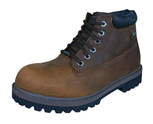Skechers Sergeants Verdict Mens Leather Lace Up Boots-Brown-10