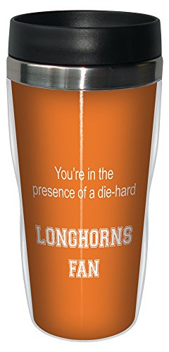 Tree-Free Greetings sg24577 Longhorns College Football Fan Sip 'N Go Stainless Steel Lined Travel Tumbler, 16-Ounce