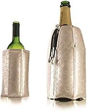 Vacu Vin 3887550 Active Cooler Wine and Champagne Set, Platinum
