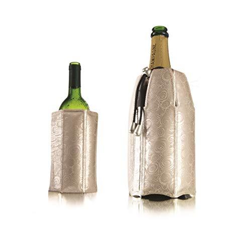 Vacu Vin Rapid Ice Wine and Champagne Cooler Set - Platinum