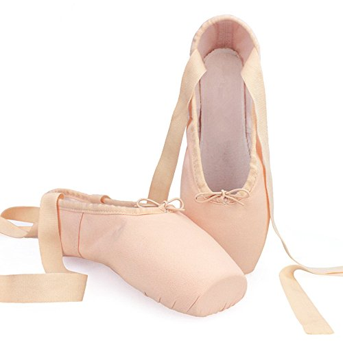 Harten Boden Gurt canvas Ballettschuhe für Kinder Anfänger Ballett Pointe Schuhe Damen Ballerinas Meat meal