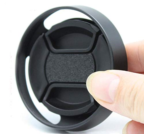 (FidgetFidget for Leica M 58mm 58 mm Metal Tilted Vented Lens Hood Shade + Lens Cap 1)