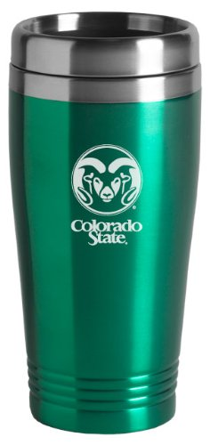 Colorado State University - 16-ounce Travel Mug Tumbler - Green by LXG, Inc. (Image #1)