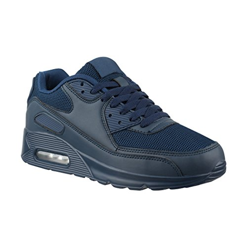 Trendige Unisex Sneaker | Tendance Unisexe Damen Herren Kinder Sport Laufschuhe Turnschuhe Chunkyrayan Navy La Femmes Hommes, Enfants, Chaussures De Course Espadrilles Bleu Marine