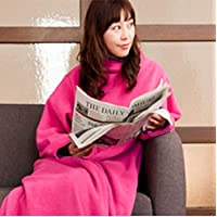 Snuggle-Up Blanket - Snuggie - Sleeve Blanket - Pink - Rose - Cover-Up - Blanket - Polar Fleece - Throw Blanket