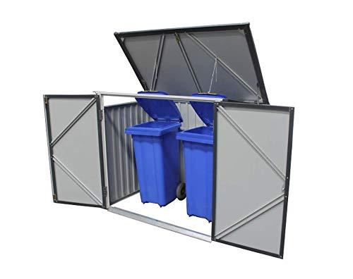 (DuraMax 5 x 3 Metal Trash Bin Lean-To Shed)