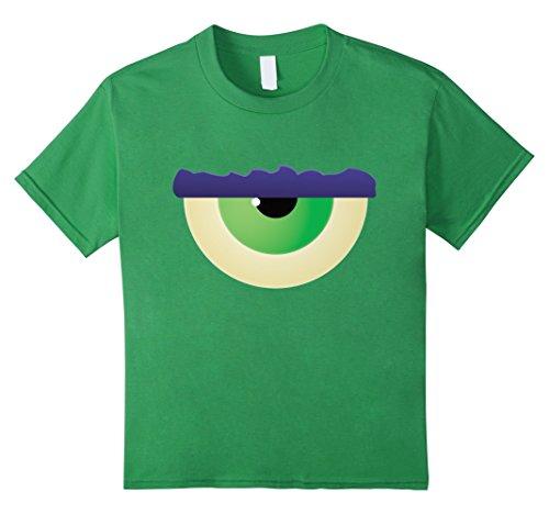 Cyclops Costume Shirt (Kids Kids Halloween Costume Monster Eye Cyclops T-shirt 8 Grass)