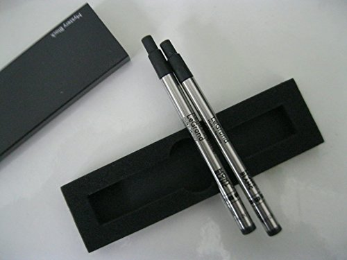 (montblanc refill Legrand 2 X 1 Pacific Blue Mystery black 114835 114834 Fineliner B Broad for pen (Mystery Black) )