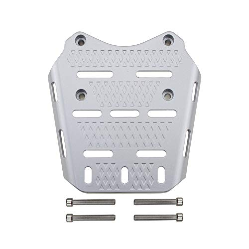 PRO-KODASKIN Motorcycle Rear Luggage Rack Aluminum Rear Luggage Rack Cargo Detachable Holder Shelf Panel for Honda PCX 125 PCX 150 2014-2019-Silver