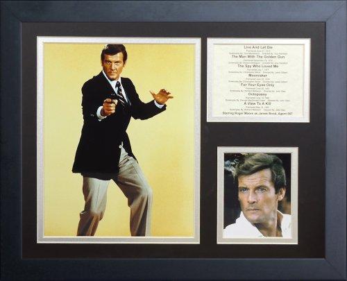 Legends Never Die ''James Bond Roger Moore'' Framed Photo Collage, 11 x 14-Inch by Legends Never Die