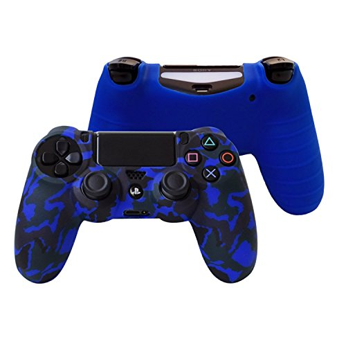 1cd66ca116b12 Hikfly Silicone Gel Controller Cover Skin Protector Compatible for Sony  Playstation 4 PS4/PS4 Slim/PS4 Pro Controller (2X Controller Camouflage  Cover ...