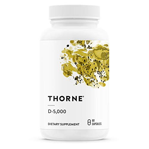 Thorne Research - Vitamin D-5000 - Vitamin D3 Supplement (5,000 IU) for Healthy Bones and Muscles - NSF Certified for Sport - 60 Capsules