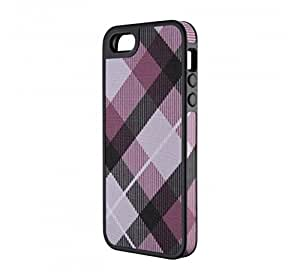 Speck Products FabShell Fabric-Covered Case for iPhone 5 & 5S  - MegaPlaid Mulberry/Black
