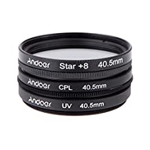 Andoer 40.5mm Filter Set UV + CPL + Star 8-Point Filter Kit with Case for Canon Nikon Sony DSLR Camera Lens
