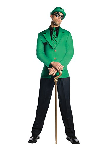 Rubie's Men's Dc Super Villains Adult Riddler, Green/Black, X-Large