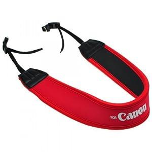 EarlyBirdSavings Red Neoprene Comfort Camera Padded Shoulder Neck Strap For Canon Camera