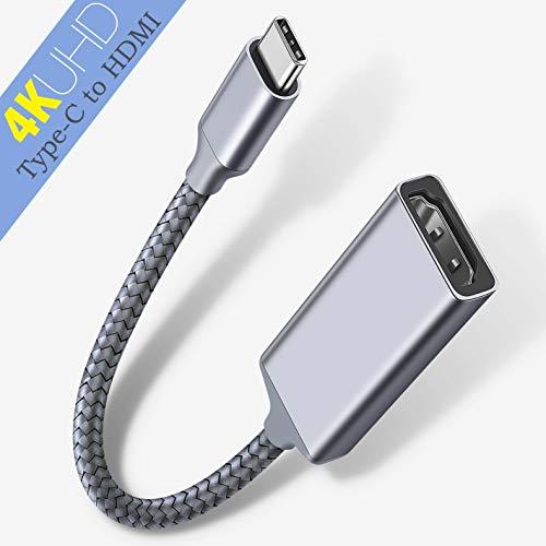 Highwings USB C to HDMI Adapter (4K@60Hz), Type C to HDMI Adapter,Thunderbolt 3 Compatible,Compatible Samsung Galaxy Note 9/S8/S9 Plus/Note8,Surfacebook 2, Pixelbook,2017 MacBook, 2017 iMac,Grey by Highwings (Image #7)