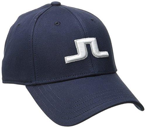J.Lindeberg Men's Banji Flexi Twill Cap, Navy/Purple, Large