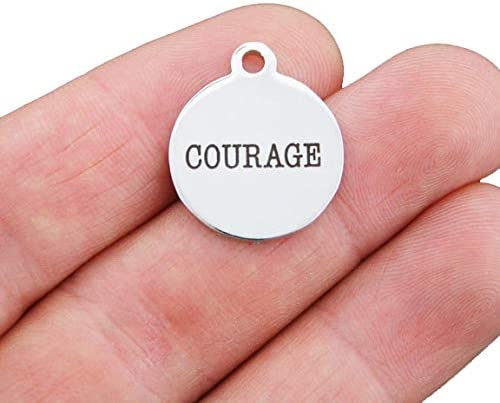 Quantity Options Courage Stainless Steel Charm BFS659 Exclusive Line