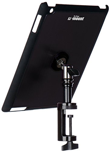 On-Stage TCM9163 Quick Release Table Tablet Mount with Snap-On Cover for iPad 2/3/4, Black