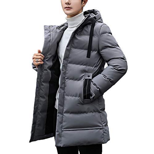 [MISHOW]ダウンコート メンズ ダウンジャケット 中綿 アウター 冬 春服 厚手 ロング丈 フード付き 無地 通勤 通学 S~XXL 3色選べ