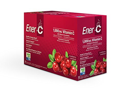 Ener-C Effervescent Multivitamin Non-GMO Gluten-Free Vegan Powdered Fruit Juice Drink Mix for Immune Support and Hydration with Electrolytes Cranberry Flavor 30 (Effervescent Drink Mix)