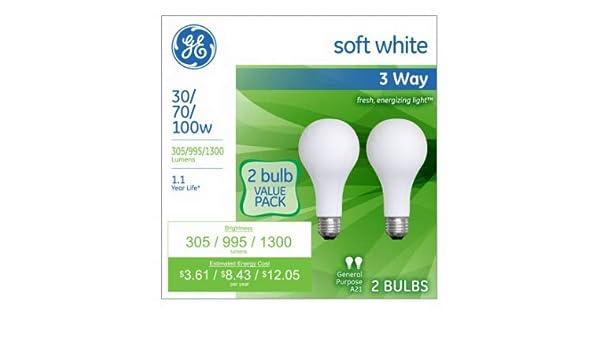 Amazon com: G E Lighting 97775 3-Way Light Bulbs, Frosted