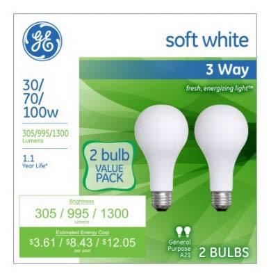 Amazon Com G E Lighting 97775 3 Way Light Bulbs Frosted