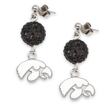 Iowa Hawkeyes Ovation Crystal Earrings