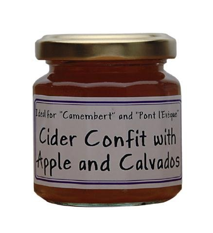 Apple Cider and Calvados French Imported confit for cheeses 4.4 oz jar by l'Epicurien France, One