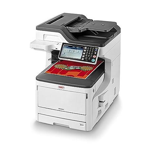 OKI MC853dn LED 23 ppm 1200 x 600 dpi A3 - Impresora multifunción (LED, Impresión a Color, 1200 x 600 dpi, 300 Hojas, A3, Negro, Blanco)