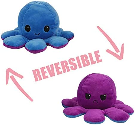 FengHP Cute Octopus Plush Toys Octopus Doll Flip-Sided Double Octopus Plush Toy Octopus Marine Life Toys Flip-Sided Flip Octopus Doll Soft Reversible Octopus Stuffed Stuffed Animals Doll