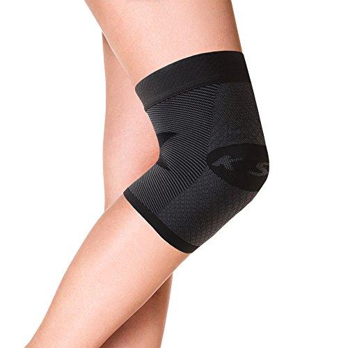 OrthoSleeve KS7 Compression Knee Sleeve (One Sleeve) for Knee Pain Relief, Aching Knees and Arthritis Relief (Black, Medium)
