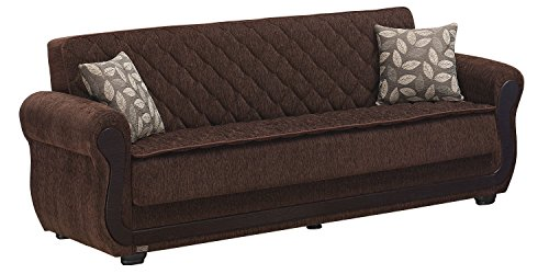 BEYAN Sunrise Collection Large Folding Sofa Sleeper Bed with Storage Space and Includes 2 Pillow ...