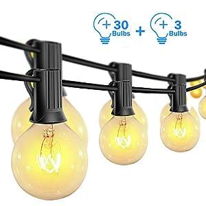 Catena Luminosa Esterno, Lampadine G40 Vintage Edison 30 Prese, Luci a Sospensione da Interno/Esterno per Patio Giardino… 4 spesavip