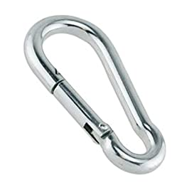 80mm x 8mm Zinc-Galvanized Steel Carabiner