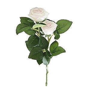 Sqkm-88 Artificial Fake Western Rose Peony Bridal Bouquet Wedding Home Decor 60