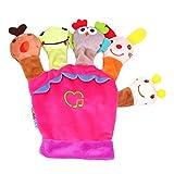 Willsa Glove Puppet Plush Finger Cartoon Doll Story Telling Parent-Child Interaction