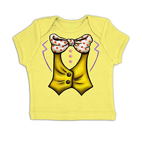 [Candy Man Costume Baby T-shirt - Pale Yellow 3-6 Months] (Willy Wonka Costumes Girl)
