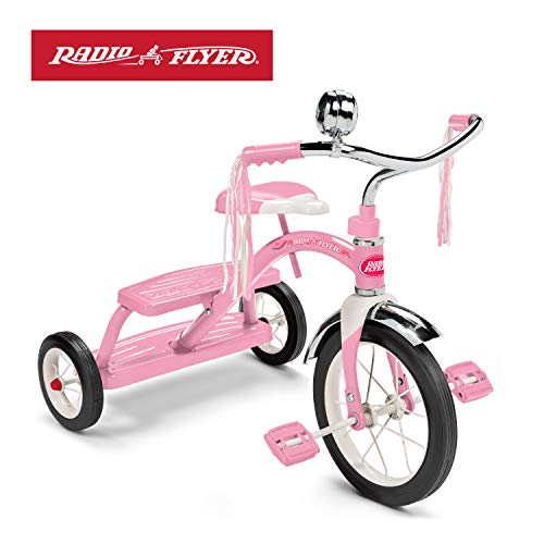Radio Flyer Classic Pink Dual Deck Tricycle (Girls Radio Flyer Tricycle)