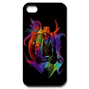 Jimi Hendrix Design Back Case Protective TPU Cover For Iphone 4 4s iphone4s-82027