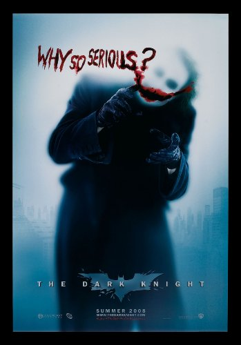 THE DARK KNIGHT *CineMasterpieces ORIGINAL DOUBLE SIDED MOVIE POSTER BATMAN WHY SO SERIOUS ? (Serious Man Poster)