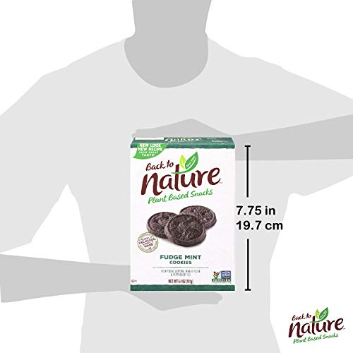 Back to Nature Cookies, Non-GMO Fudge Mint, 6.4 Ounce (Packaging May Vary)