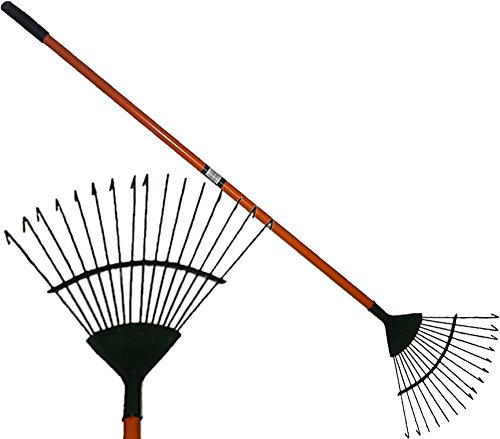 16 Tooth Lawn Rake Lear Rake Carbon Steel Leaves Debris Gardening Maintenance Marko