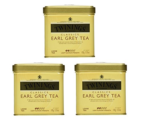 Twinings Classics Earl Grey Tea Loose Tea 3.53 oz Tin - Pack of 3 (Wholesale Loose Leaf Tea)