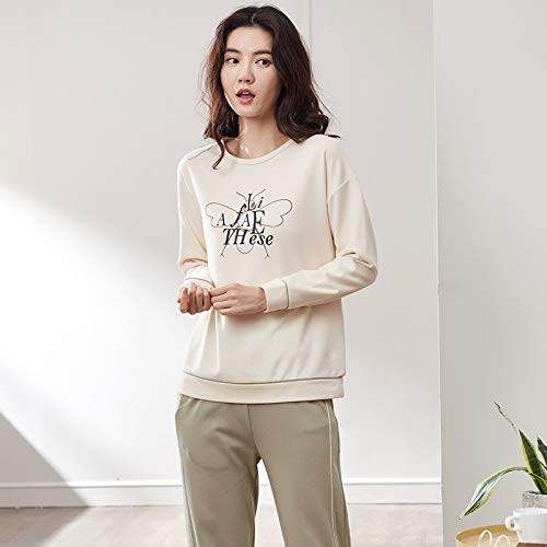 f102a87bd3 Moda Nuevas Pijamas Dibujos Manga Casual Mujeres Pantalones Otoño Algodón  Servicio Animados Home size Las Larga ...