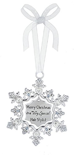 Ganz Merry Christmas to a Very Special Hair Stylist Zinc Decorative Hanging Ornament,Silver,2 5/8