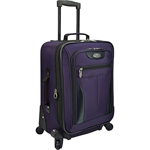 us-traveler-charleville-20-spinner-luggage-purple