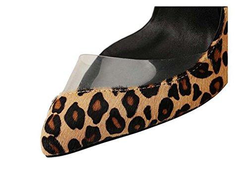 de Color Negro con 40 con Corte Talla Zapatos bajo de Zapatos Negro Tamaño Punta 49 Tacón 47 Mujer q1W4pE6